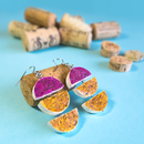 DIY Recycled Wine Cork Geometric Earrings
