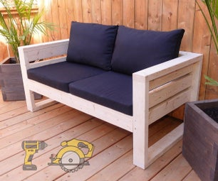 Easy Outdoor Sofa From 2x4s and Two Power Tools!