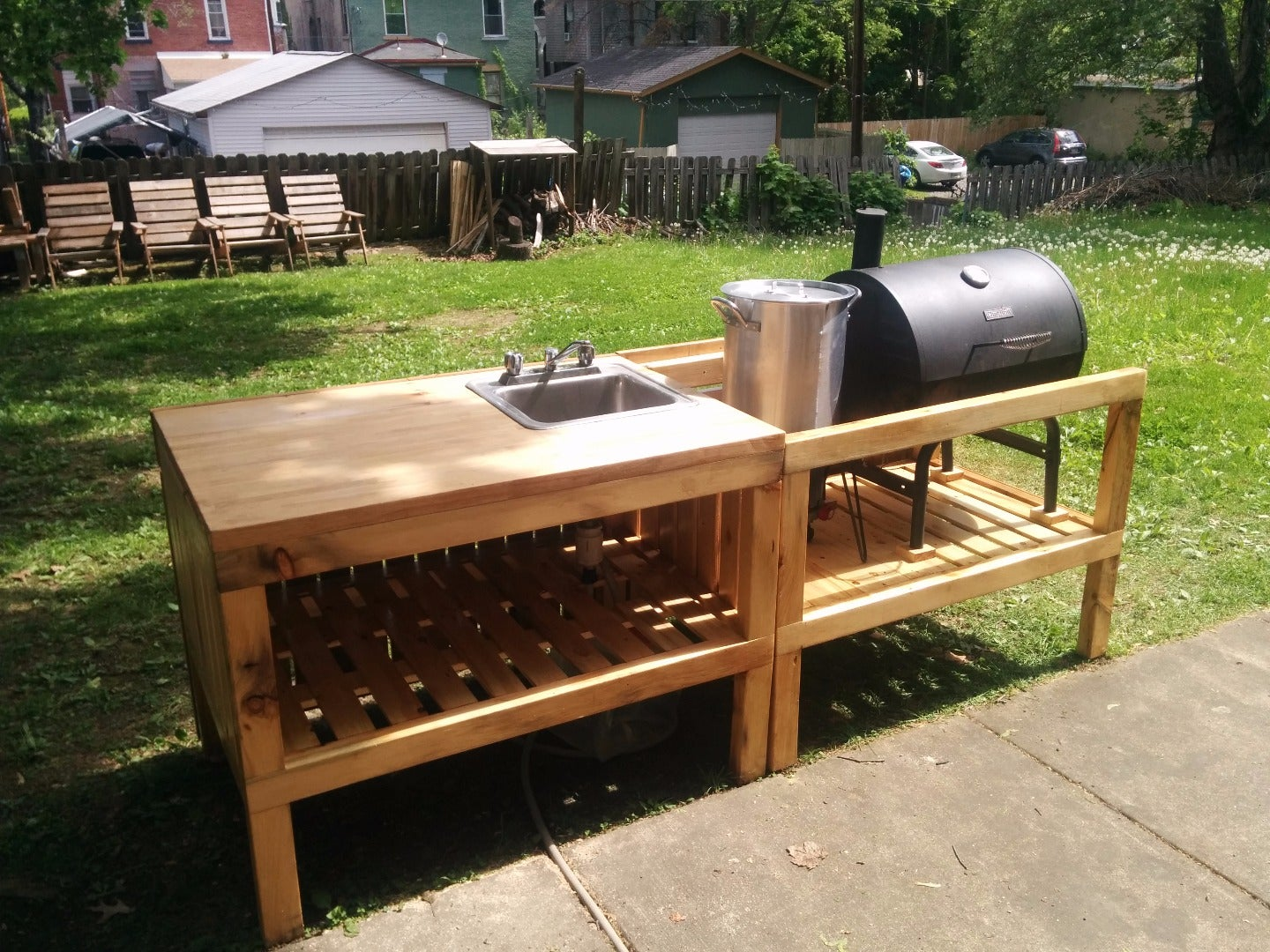 Backyard Kitchen Made From Reclaimed Materials 18 Steps With Pictures Instructables