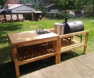 Backyard Kitchen Made From Reclaimed Materials