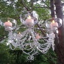 LED Chandelier - Dollar Store Chic!