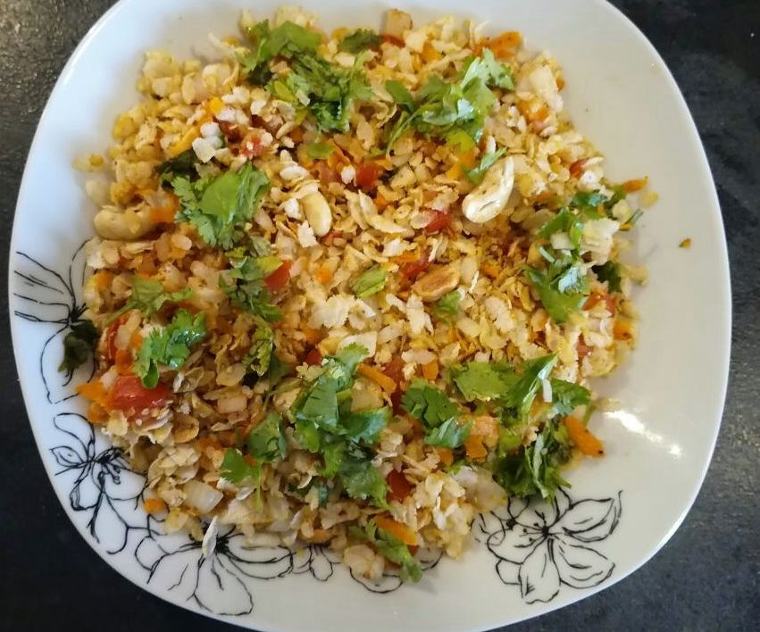 Flattened Rice Bhel( Masala Flattened Rice Snack)