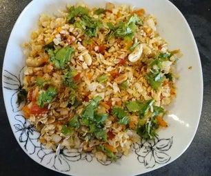 Flattened Rice Bhel (Masala Flattened Rice Snack)