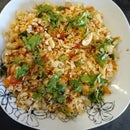 Flattened Rice Bhel (Masala Flattened Rice Snack)