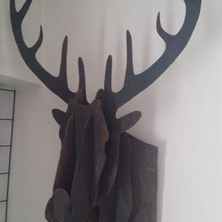 Cardboard Box Stag Deer Head Wall Hanging