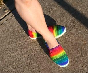 Easy Rainbow Shoes