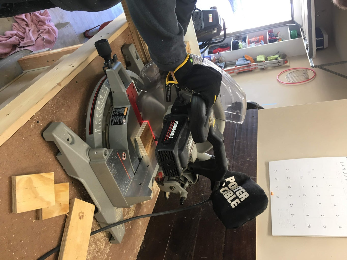 Cutting the Wood Strips to the Correct Length