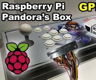 Pandora's Box Arcade With Raspberry Pi GPIO Controller