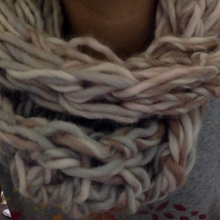 DIY Arm Knitted Infinity Scarf