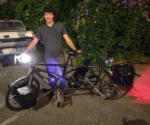 防盗自行车灯系统