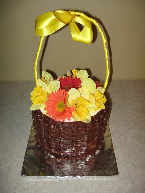 How to Make a Spring-Themed Basket Cake