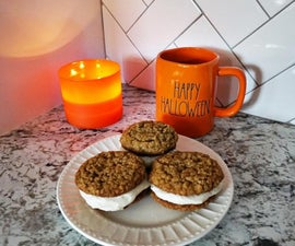 Pumkin Oatmeal Cream Pies With a Maple Cream Cheese  Filling