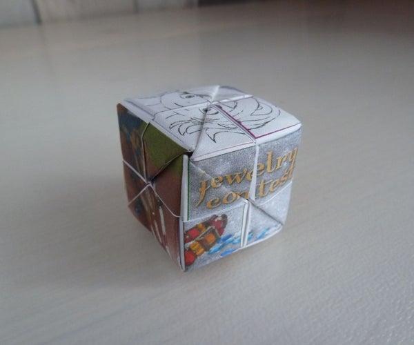 Origami Picture Puzzle Cube