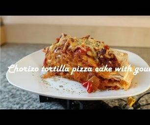 Chorizo Tortilla Pizza Cake With Gouda Recipe