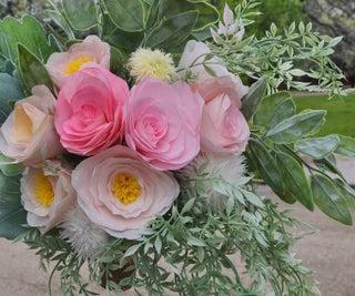 婚礼花束花卉安排 - 纸花 - 咖啡滤清器花