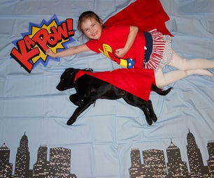 Easy Superhero Photo Booth