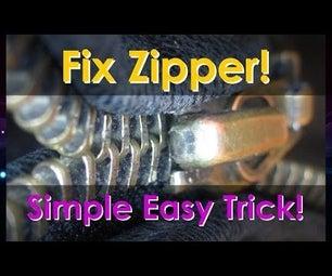 Fix Broken Zipper. Simple Easy Trick!