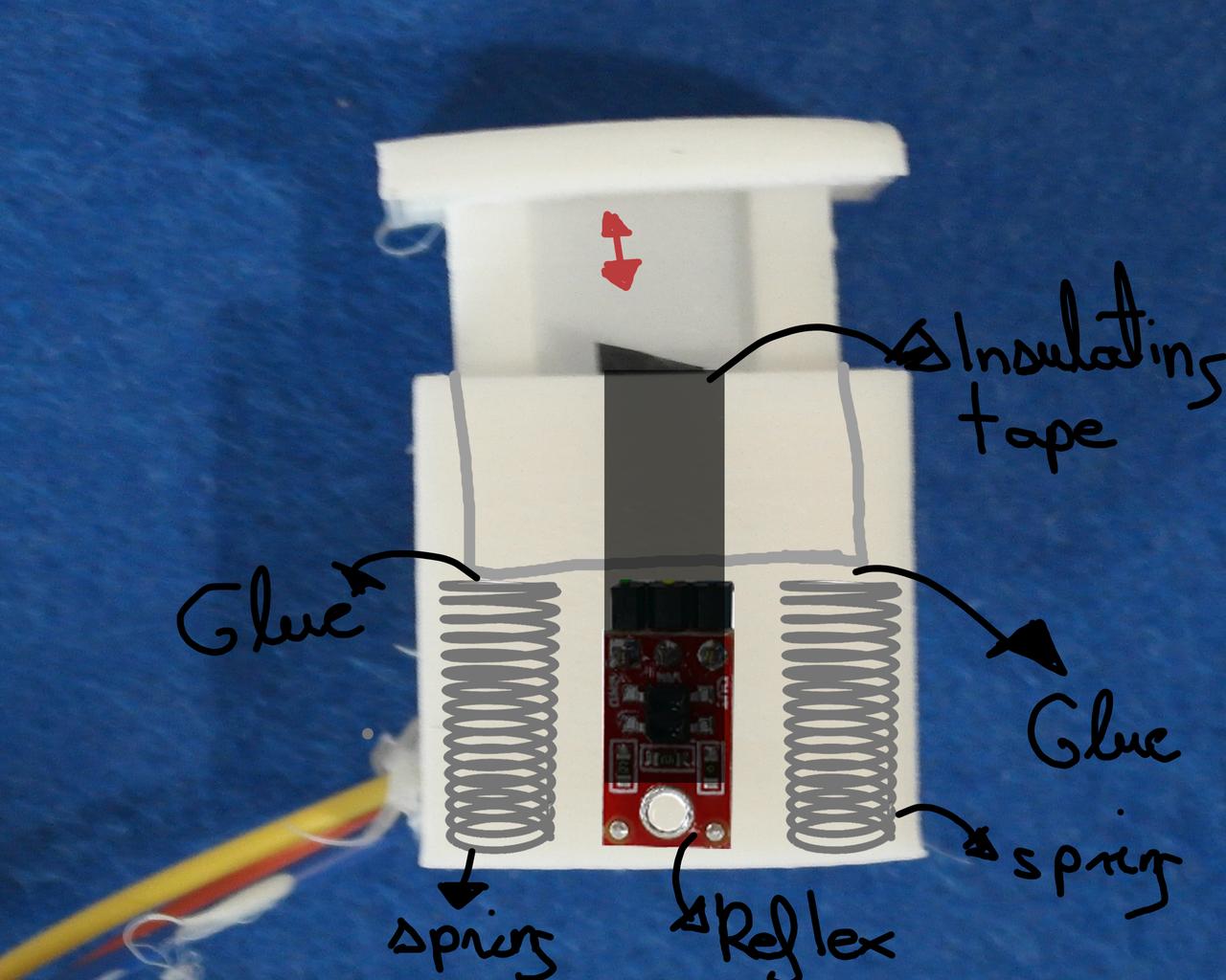 """How to Glue the """"sensor Reflexivo De Suelo""""   Linear IR LED Sensor !!!!!!"""