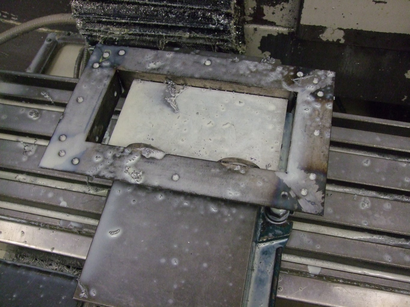 Drill Frame Mounting Holes