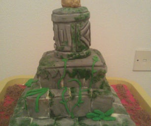 Indiana Jones Tomb Cake