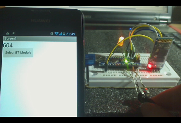 Android Receiving Data From Arduino Via Bluetooth (app Inventor 2)