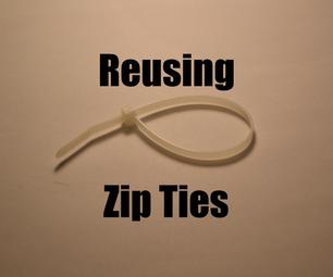 How to Reuse Zip Ties