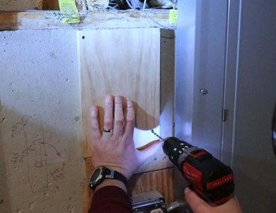Attach Mounting Board to Concrete Wall, Add Plastic Box