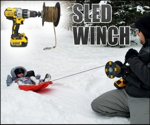 Snow Sled Drill Winch