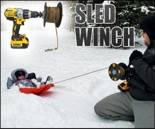 雪雪橇钻绞车