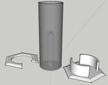 Pythagoras Cylinder With Sketchup to STL