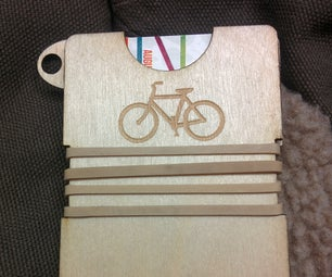 Laser Cut Bicycle Wallet
