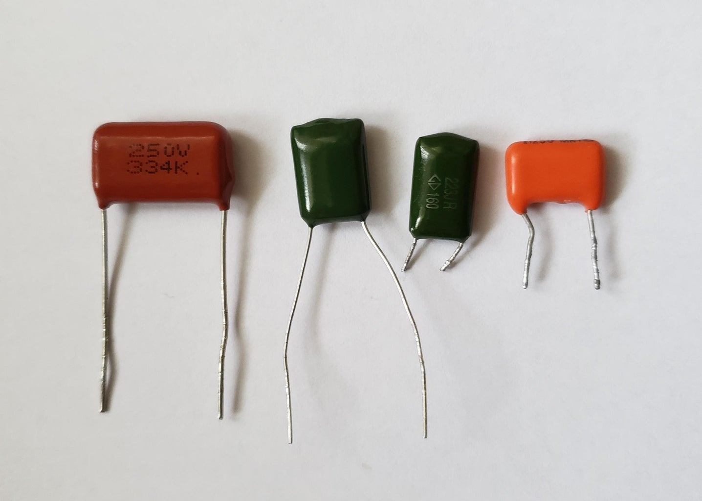 Modern Plastic, Mylar or Film Capacitors.