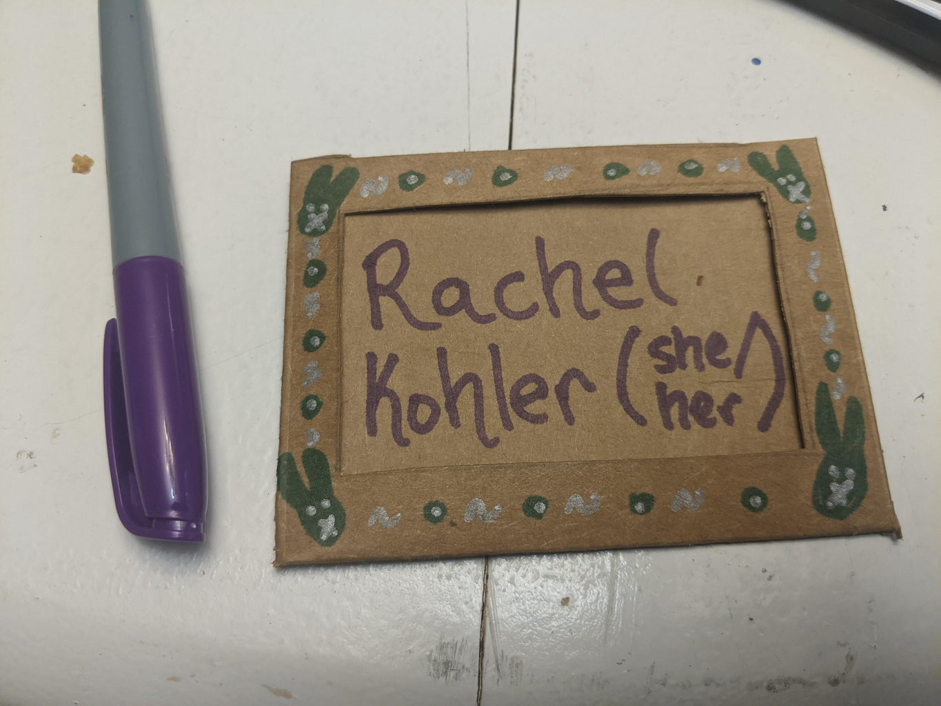 Put the Nametag Together.