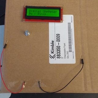 Arduino Ohm Meter With LCD