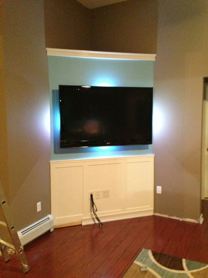 Hidden Wires For Flat screen TV With PVC Pipe