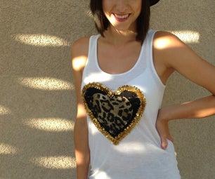 DIY Leopard Heart Tank Top