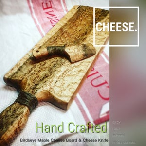 Hand Crafted, Cheese Board & Cheese Knife