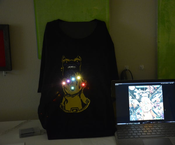 Thanos LED T-Shirt - Guardians of the Galaxy