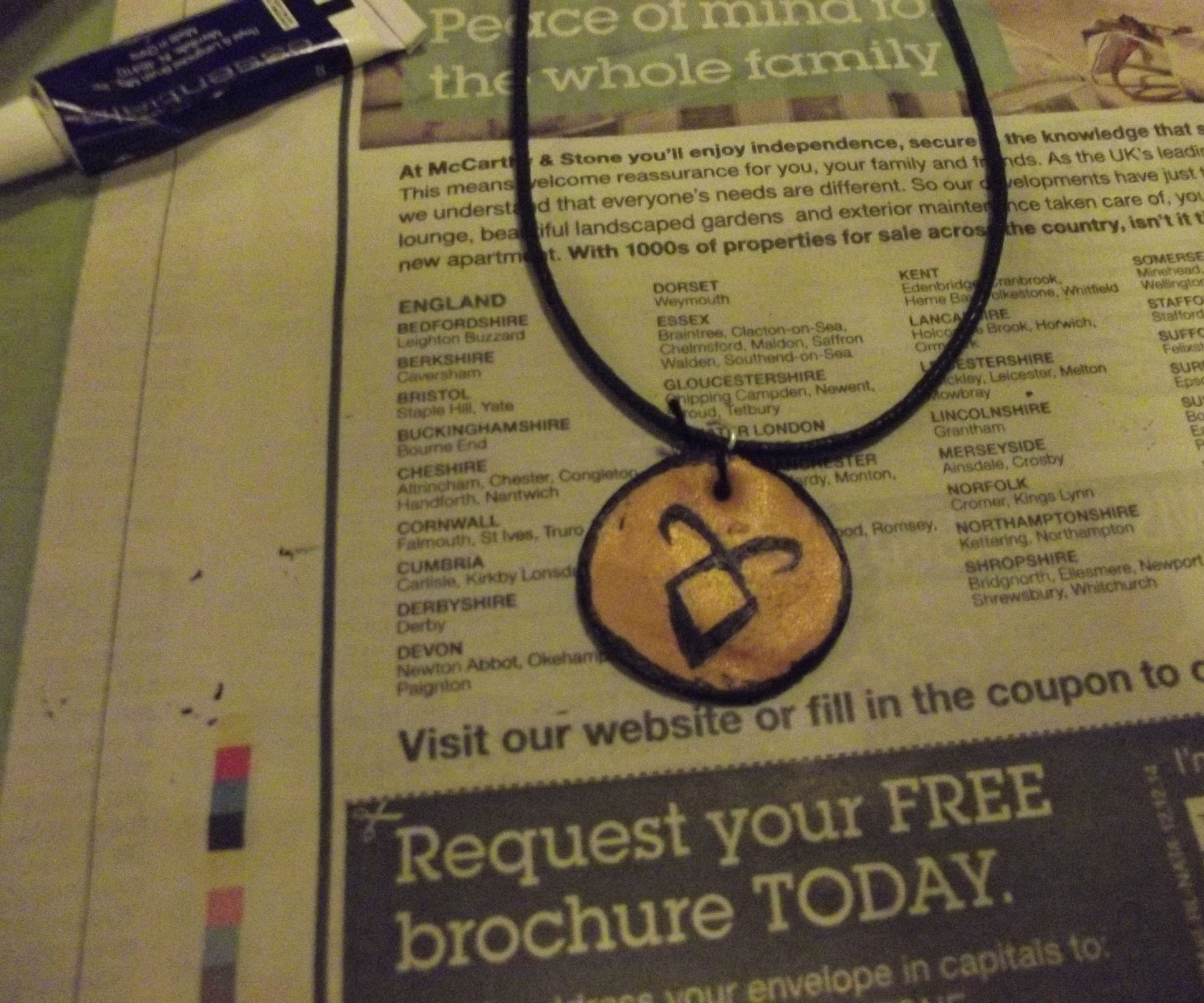 Rune Necklace (or any symbol!)
