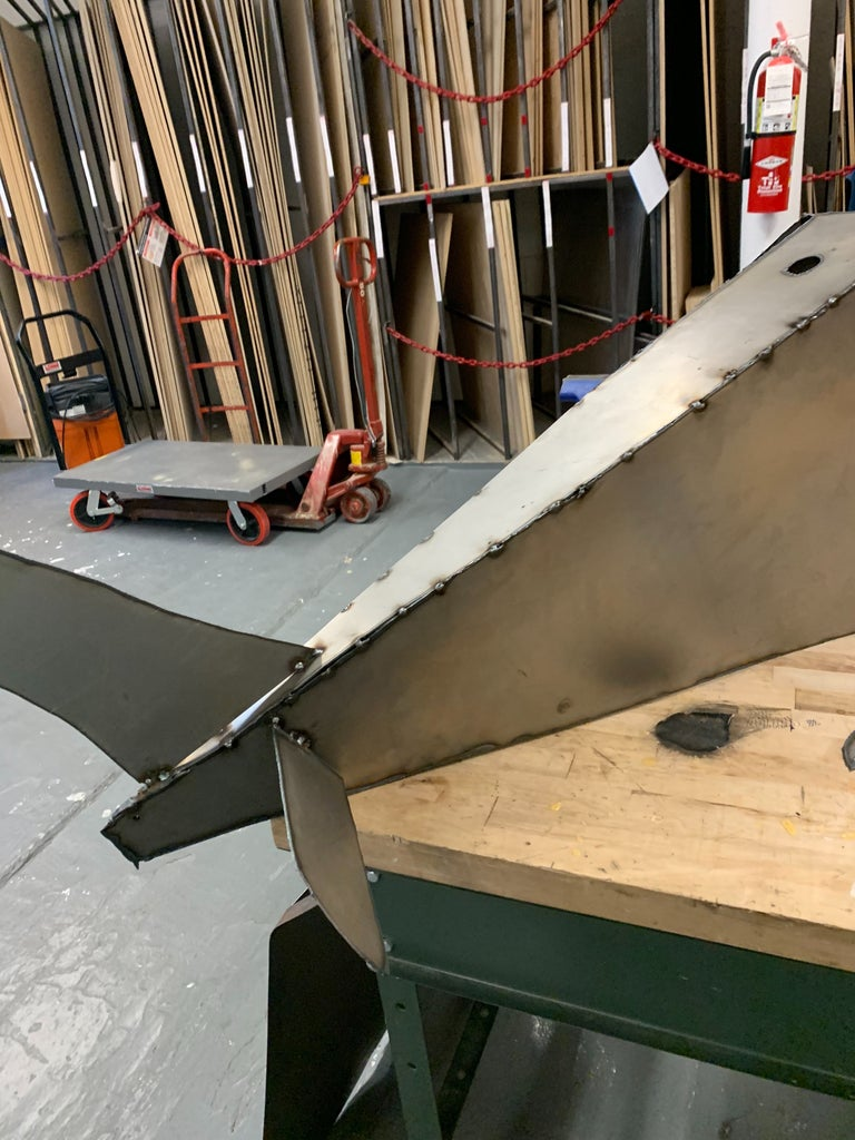 Plasma Cut One Top Fin and Two Identical Fins to Your Satisfaction
