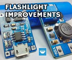 把手电筒从AA电池转换成锂电池