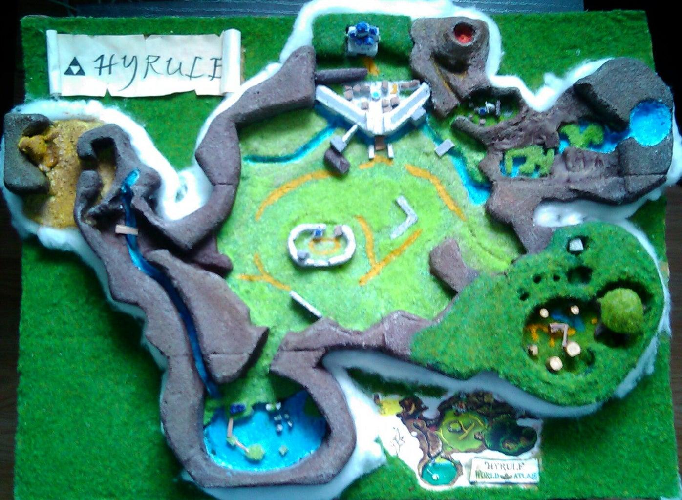 Zelda Ocarina of Time Hyrule World Map Diorama
