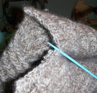 Continue Unseaming the Knit Object.