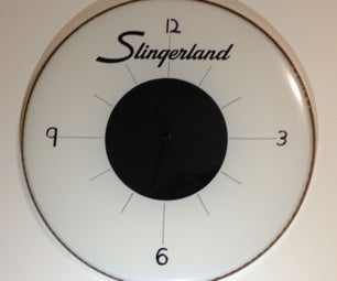 Drum Head Wall Clock