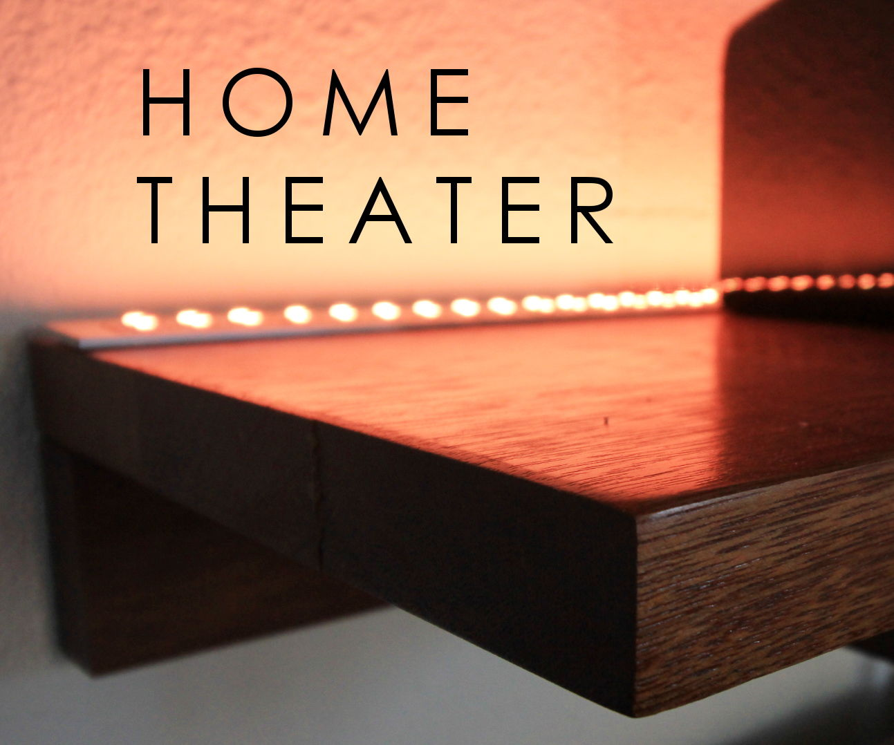 Home Theater LED Lighting & Speaker Set-Up