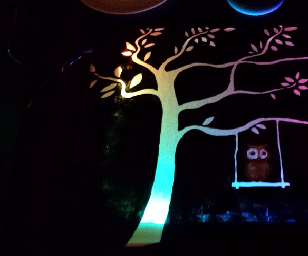 LED Strip Back-lit Canvas Art