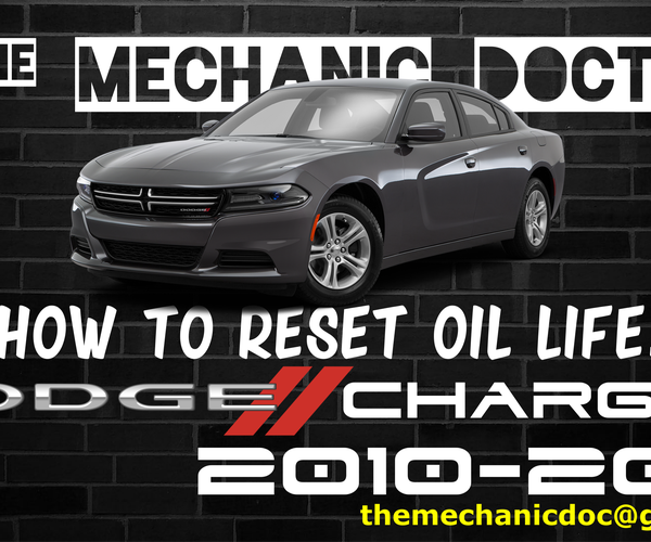 How to Reset Oil Life: Dodge Charger 2010-2015