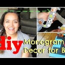 DIY Monogram Wall Decor | Boys Room