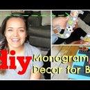 DIY Monogram Wall Decor   Boys Room