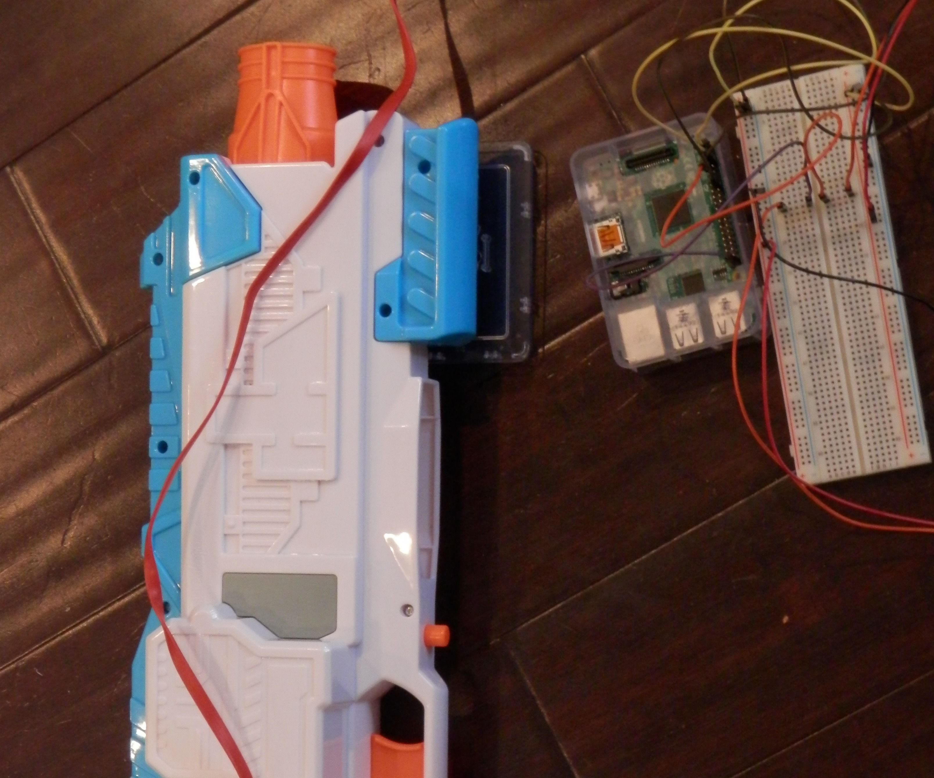 Motion Activated Nerf Gun
